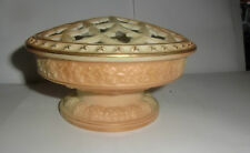 Superb  Royal Worcester Blush Ivory Bowl with Pierced Cover - dated 1913