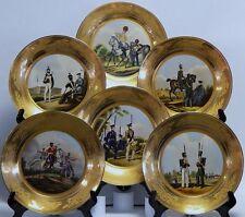 Wandteller Teller  Porzellan  Malerei Gold 6 Stück Set