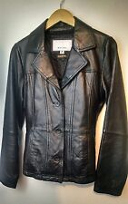 Wilsons Leather Maxima Leather Jacket Coat Solid Black Size M Women's Junior
