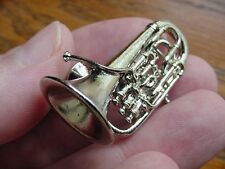 (M-203-B) EUPHONIUM Besson Tac pin JEWELRY BROOCH 3D Silver instrument music