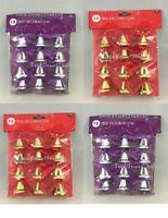 Pack of 12 Small Christmas Bell Tree Decorations 38mm(approx)