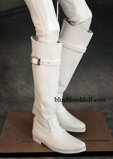 1/3 bjd SD13 SD17 doll white color suede long boots super dollfie luts