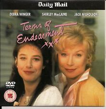 TERMS OF ENDEARMENT STARRING DEBRA WINGER SHIRLEY MacLAINE JACK NICHOLSON