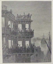 Doré - London; 'Greenwich - In The Season', Antique Wood Engraving, C.1870