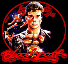 80's Van Damme Classic Bloodsport Poster Art custom tee Any Size Any Color