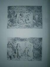 Planche gravure Honoré Fragonard Bacchanales 2