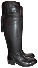 $547 Frye CLARA Tassel Over the Knee Boot Stretch Back Flat Bootie 9.5 Black