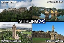 SOUVENIR FRIDGE MAGNET of STIRLING SCOTLAND
