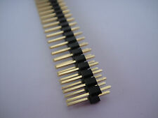Lot20 2.54mm pitch 2 x 20 Pin Male Double Row Pin Header Strip Breakable 109G td