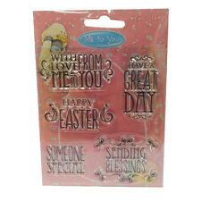 5 x Sentiment Clear Stamps - Me to you Easter  for cards/crafts