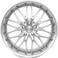 "19"" MRR GT1 Wheels For Audi A4 A6 A8 Q5 19x8.5 Inch Silver Rims Set (4)"