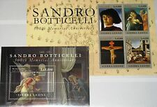 Sierra leone 2011 5465-68 bloc 657 sandro Botticelli paintings peintures art MNH