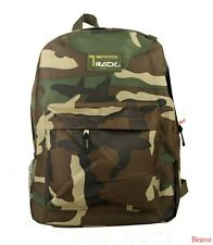 "2016 New Track Classic Camo-Flash 16"" Large Student Backpack Bag - TB205C Army"