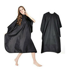 Pro Adult Black Salon Haircut Hairdressing Cutting Cape Barbers Gown Cloth Cover