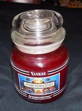 Yankee Candle HOME FOR THE HOLIDAYS Collectors BLACK BAND 14.5 oz Jar Candle HTF