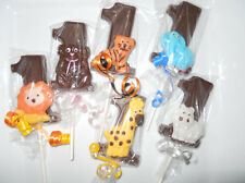 24 funfari Safari Animal 1st First Birthday Chocolate Lollipops Birthday Favors