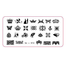 Manicure Tool Nail Art Stamping Template Wedding Bike Sweet Nail Accessory bc12