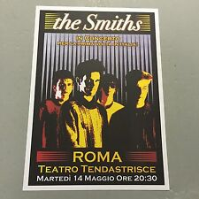 THE SMITHS - CONCERT POSTER TEATRO TENDASTRISCE ROMA ITALY (A3 SIZE)