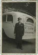 PHOTO ANCIENNE - VINTAGE SNAPSHOT -BUS CAR AUTOBUS AUTOCAR EXCURSION V.LAPP 1937