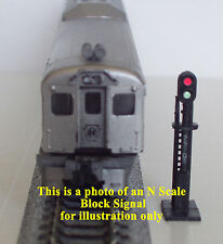 HO Scale 2 Custom Lighted Bachmann Block Signals 2 Sensors & AC/DC Circuit Board