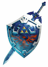 Framed Print - Zelda Hylian Shield with Sword (Picture Poster Art Game Gaming)