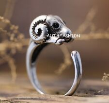 Retro Sheep Ring Lamb Unique Funny Animal Ring Jewelry Free Size gift idea