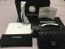 CHANEL 17C Black Caviar Rectangle Mini Classic Flap- BRAND NEW & 100% Authentic