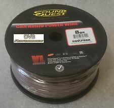 Soundquest 8 Gauge Car Audio Ground Earth Cable 250 Foot 72 Meter Drum Roll BULK