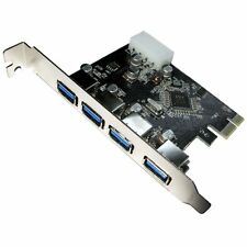 4-Port USB 3.0 PCI Express Adapter Card with Full Height Riser Bracket