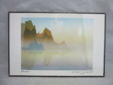 Signed, 6 x 9  framed print of Peter & Traudl Markgraf watercolor. DAWN