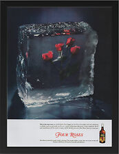 FOUR ROSES WHISKEY 1940 VINTAGE AD REPRO A3 FRAMED PHOTOGRAPHIC PRINT POSTER