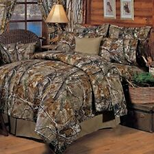 Camo Sheet Set 4 Piece Queen Cotton Bed Sheets Pillow Cases Home Bedroom Decor