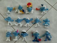 Collectible McDonald's SMURFS PVC Mini Figures Lot of 14