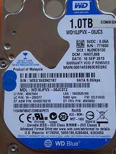 Western Digital WD10JPVX-08JC3T2 DCM: HH0TJBB | 16 SEP 2013 | 1 TB Hard Drive
