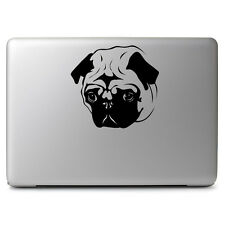 "Black Pug Dog Face Decal Sticker for Apple Macbook Air Pro 11 13 15 17"" Laptop"