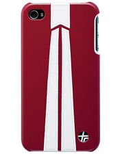 Coque Trexta cuir rouge pour iPhone 4_1