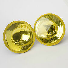 """Autopal 5.75"""" Round Headlamp Conversions with VANS Yellow Spray Coating H5006"""