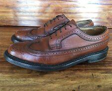 """Vintage Men's Florsheim """"Royal Imperial"""" V-Cleat Wing Tip Brown Shoe 8 D"""