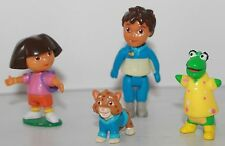 Dora Explorer Diego Baby Jaguar Isa 4pcs figurines toys Cake Toppers Decor Party