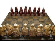 Magnifique lourd isle of lewis chess set pions jeu pieces perfect condit 'n