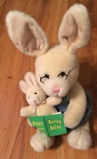 Kids Preferred Easter Bunny Reading to Baby Plush from 1998