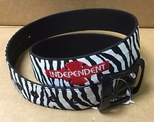 New Independent Truck Skate Co Zebra Belt & Buckle  32 34 inch Waist Skateboard