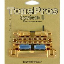 TonePros METRIC Pre-Notched Bridge & Tailpiece Set - GOLD LPGM02-GLD