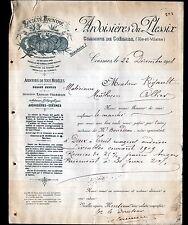 """LE PLESSIX prés de COESMES (35) ARDOISIERES """"Ernest VIERRON Directeur"""" en 1908"""