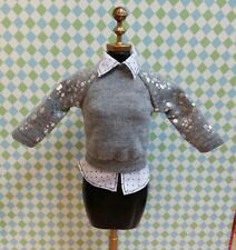 Barbie Style Glam Luxe Grace Grey Shirt Loose *New* DC104
