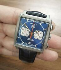 Tag Heuer MONACO Blue Steve McQueen CW2113-0 Swiss Automatic Chronograph Watch