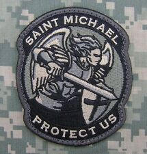 MODERN SAINT ST. MICHAEL PROTECT US TACTICAL ACU VELCRO® BRAND FASTENER  PATCH