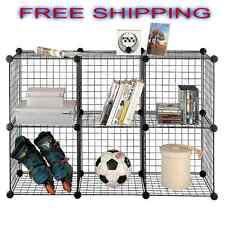 Storage Unit Wire 6 Cube Set Floor Standing Organizer Bookcase Store Bath NEW