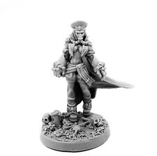 28mm-scale PIN-UP VERSION GUARD OF EMPIRE FEMALE COMMISSAR WITH FISTS OF POWER