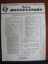 The Wedding March from A Midsummer Night's Dream - 1942 sheet music-Mendelssohn